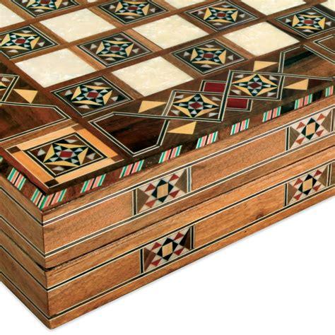 Handmade Backgammon Set - the handmade turkish backgammon set hammacher schlemmer