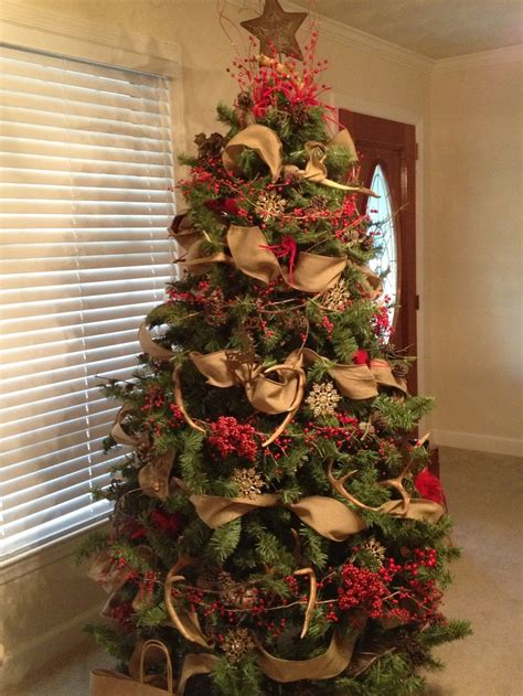 deer antlers and plaid for christmas my deer antler tree tree with antlers trees