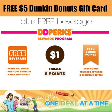 Dunkin Donuts Gift Card Coupons - dunkin donuts free 5 gift card and free beverage