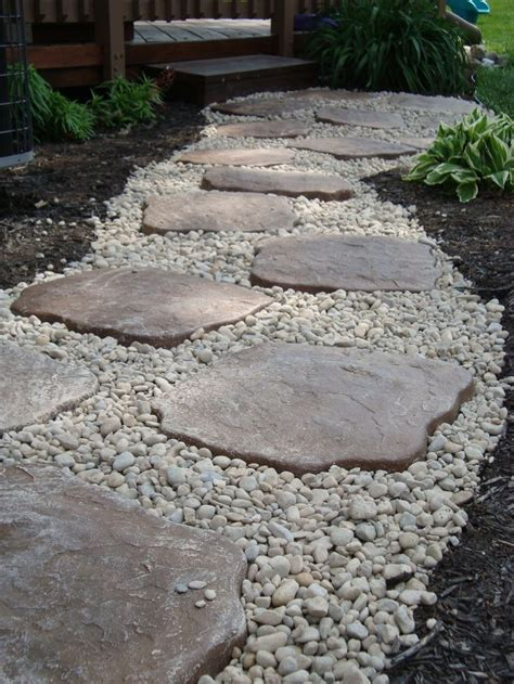 flagstones and river rock google search gardening