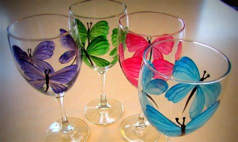 paint nite ta groupon wine glass painting class the painted glass groupon