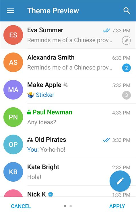 telegram for android telegram adds custom themes to its android app in the update