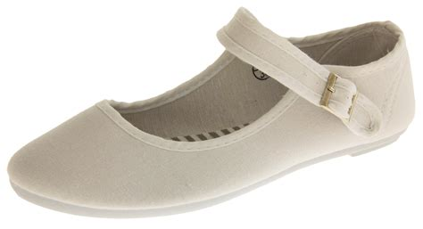 womens white canvas pumps casual flat