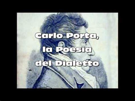 carlo porta poesie dialetto milanese carloporta la poesia dialetto