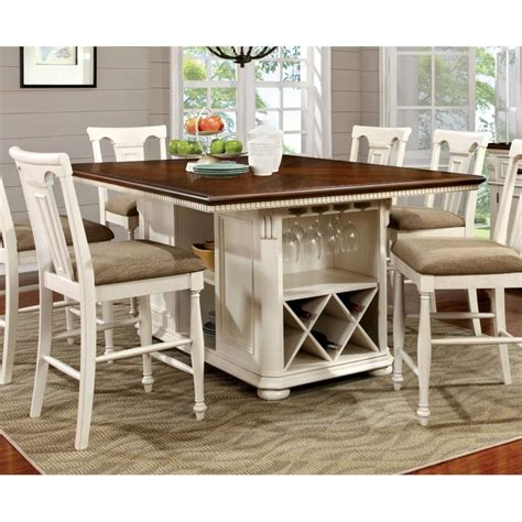 white counter height dining table furniture of america counter height dining table