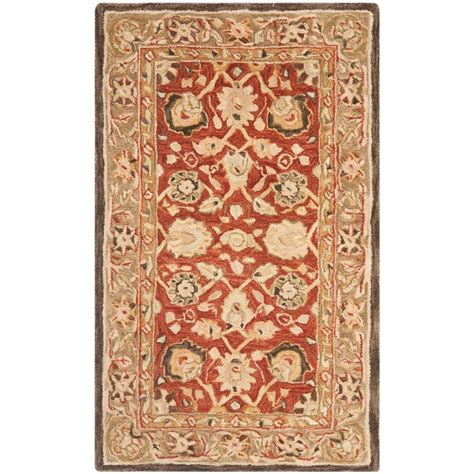kitchen rugs 6ft safavieh anatolia rust green 4 ft x 6 ft area rug an512g 4 the home depot