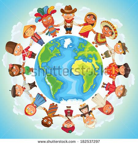 nationalities culture standing holding stock vector 189932195 shutterstock