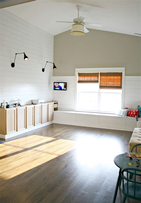 Images Of Shiplap Walls Finished Shiplap Walls And Farmhouse Door Trim In The Loft