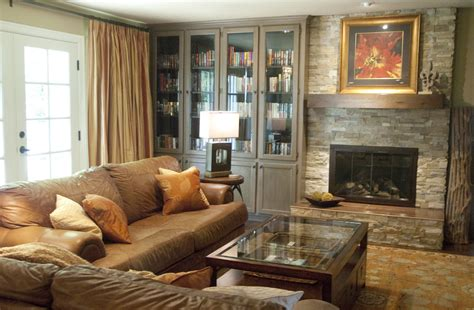 www houzz living room bookcase with glass doors family room transitional with accent lighting baseboard beige