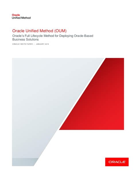 oum document templates oracle unified method oum