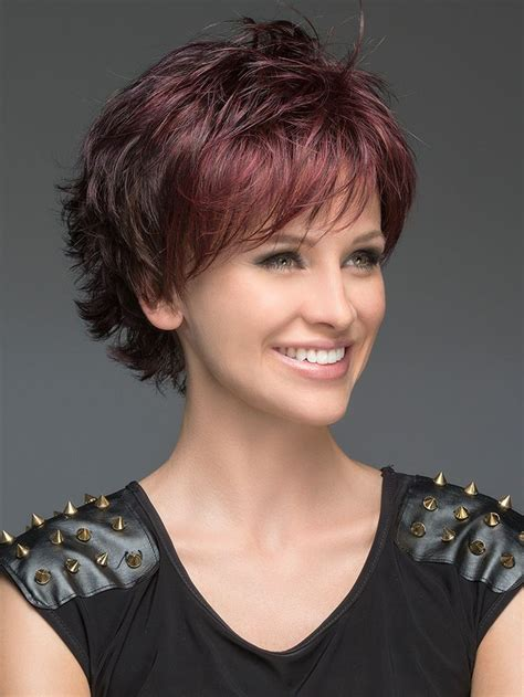 layers with shirt crown hair cut open synthetic wig mono crown short hairstyle face