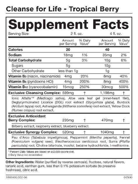 Isagenix Detox Ingredients by Isagenix Shake Nutrition Facts Nutrition Ftempo