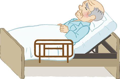 bed written royalty free elderly old man feeling ill clip art clip art