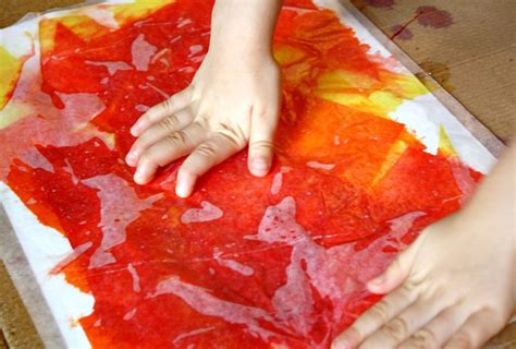 Tissue Paper Arts And Crafts For - tissue paper fall tree craft
