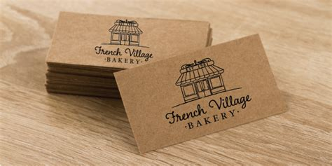 kraft business card printing design kaizen print - Browns Restaurant Gift Card