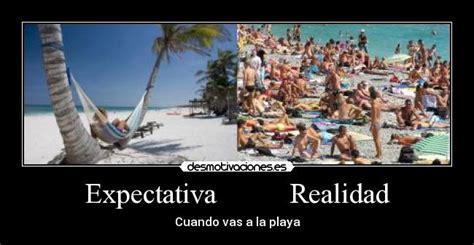 imagenes graciosas vacaciones playa expectativa realidad desmotivaciones