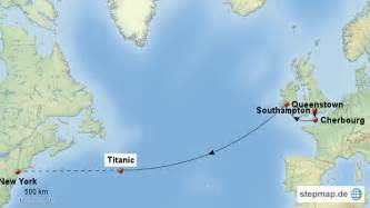 Titanic Route Map by Titanic Route Map 1 Pictures To Pin On Pinterest