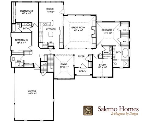 Split Bedroom Floor Plans Split Bedroom House Plans One Floor
