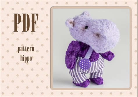 pattern allowances in casting pdf pdf pattern for teddy hippo for 4 inches instant download