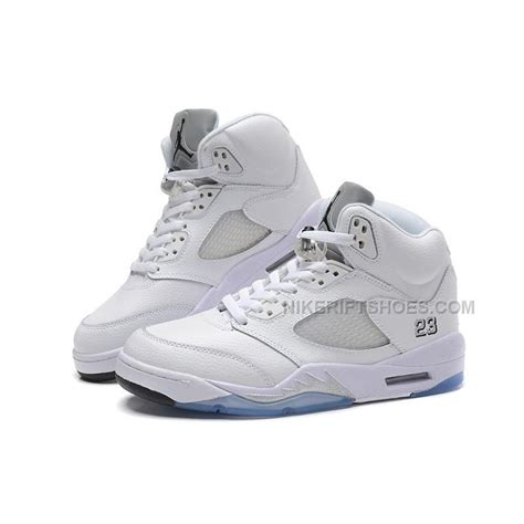 new year 5s jordans for sale air 5 v retro white metallic silver for sale
