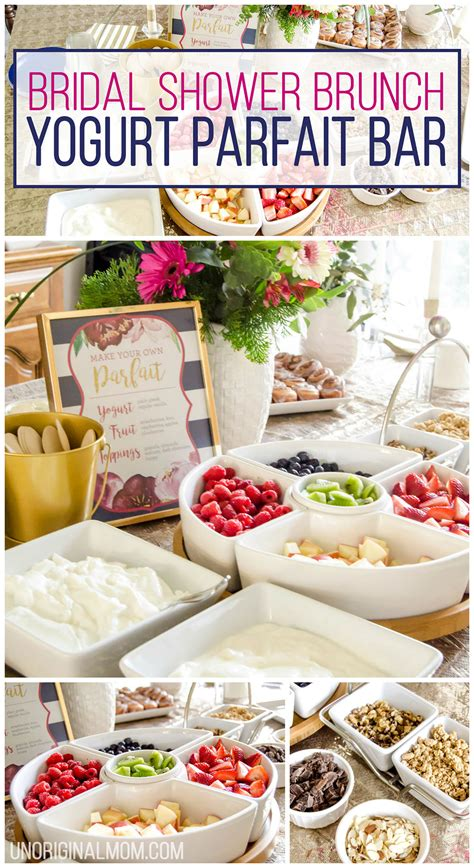 bridal shower brunch menu bridal shower brunch yogurt parfait bar unoriginal