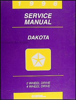 1993 dodge dakota repair shop manual original 1996 dodge dakota repair shop manual original