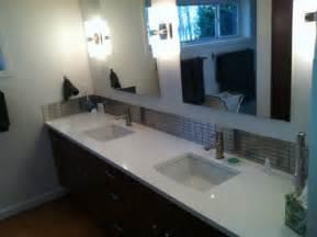 quartz bathroom vanity tops with various designs and colors
