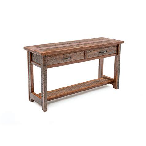 Bradford Dining Room Furniture Copperhead 2 Drawer Sofa Table Green Gables