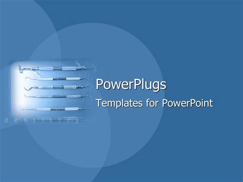 Powerpoint Template Spotlight Depicting Dental Equipment Powerplugs Powerpoint