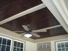 Beadboard Ceiling Porch - stained beadboard ceiling from curtis construction group llc in raleigh nc 27616