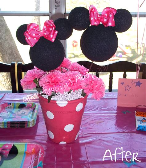 minnie mouse centerpieces diy minnie mouse flowerpot centerpiece