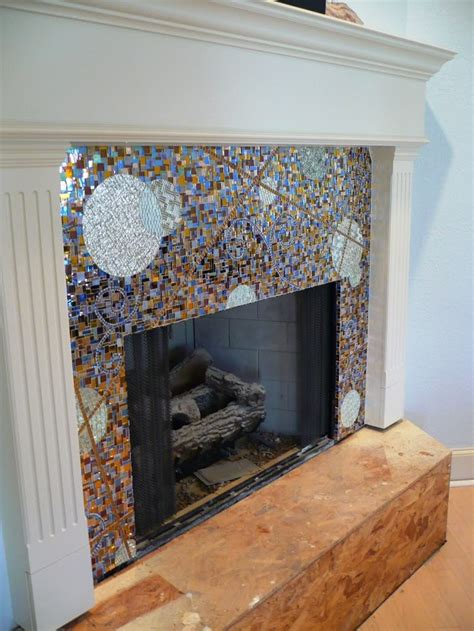 Fireplace Mosaic by Tile Fireplace Surround Mosaic Mirror For The Home