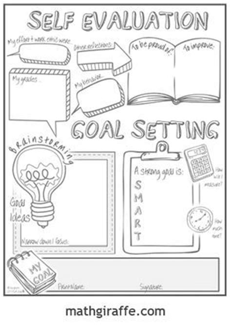 goal setting for middle school students template 25 best ideas about student goal settings on