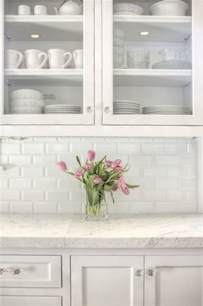 White Tile Backsplash Kitchen Subway Tile Backsplash Design Ideas