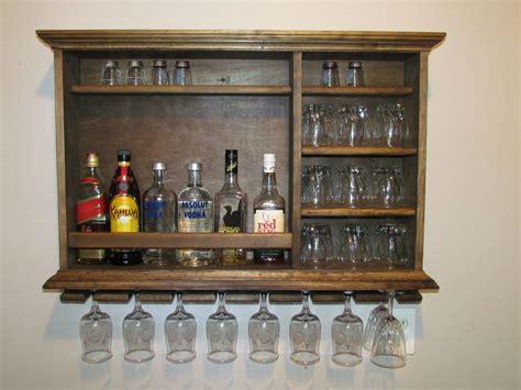 Mini Bar wall mounted mini bar. Walnut stain 3' x 2'