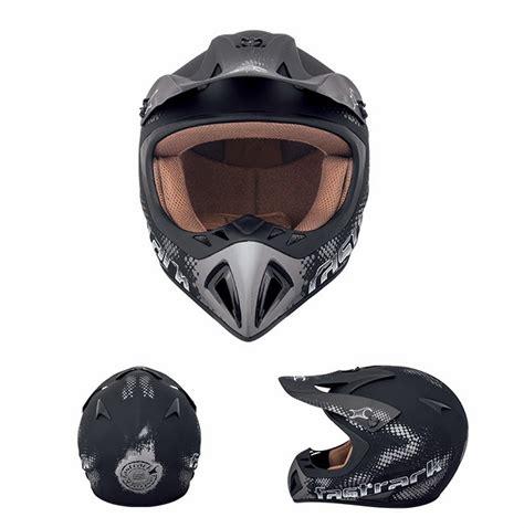 Fastrack Helmets Way2speed fastrack he01bk03 black motocross helmet wu23