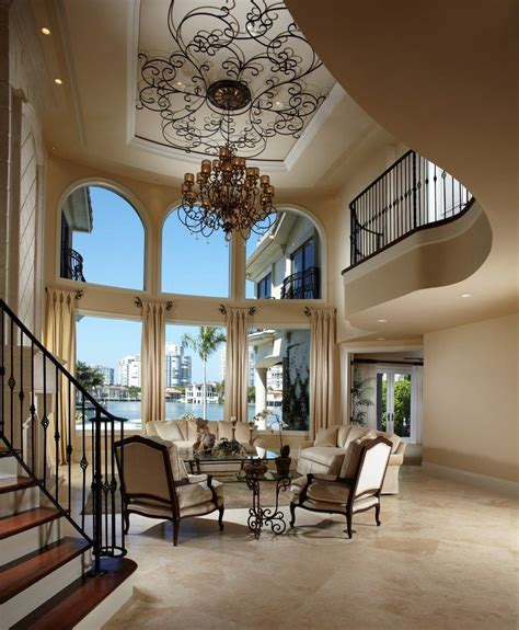 home design 3d ceiling height height ceiling living room mediterranean with seating area traditional armchairs and