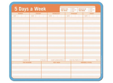 5 day week calendar template search results for 5 day weekly calendar blank