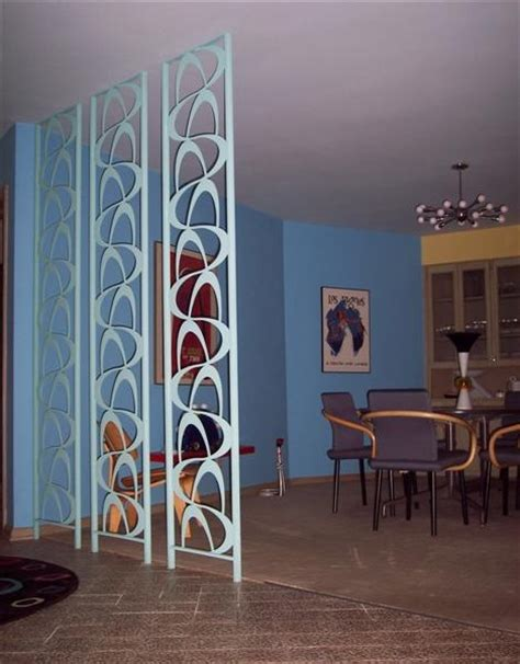 love that floor to ceiling room divider mid century