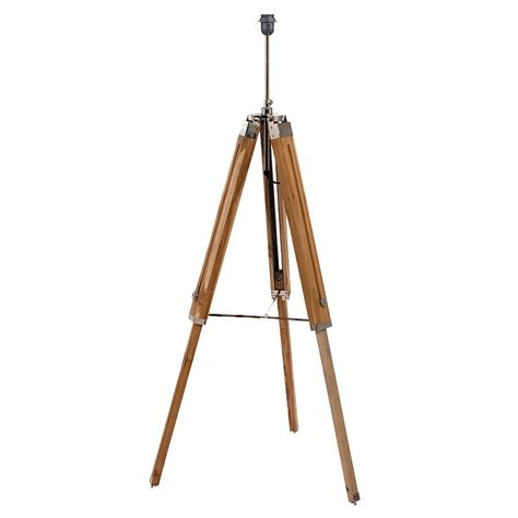 tripod floor l wooden legs natural wood tripod floor l base by quirk