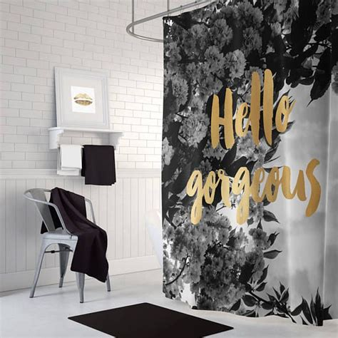 black and cream bathroom decor 25 best ideas about floral shower curtains on pinterest
