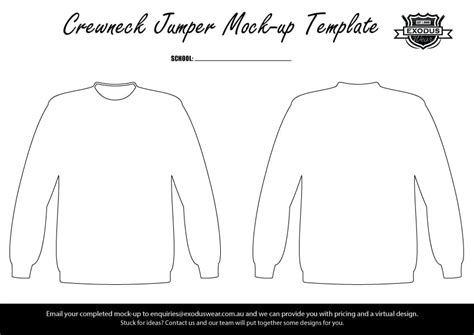 crewneck template design your own custom jumper with your personalised name