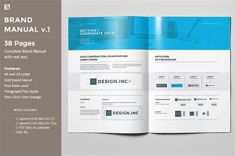 user manual design template brand manual brochure templates on creative market