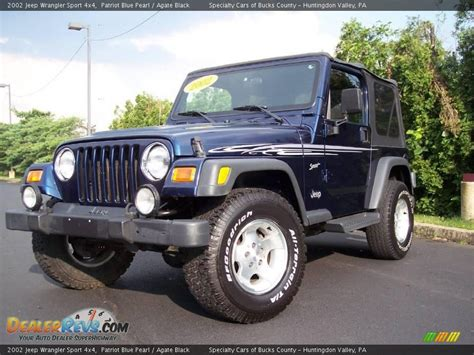 Jeep Wrangler Sport 4x4 2002 Jeep Wrangler Sport 4x4 Patriot Blue Pearl Agate