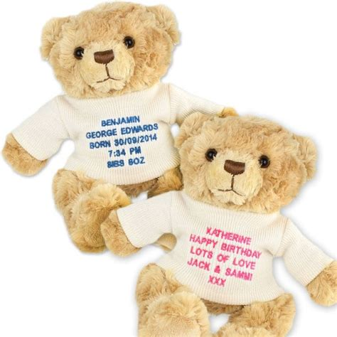 personalised teddy bear with message find me a gift