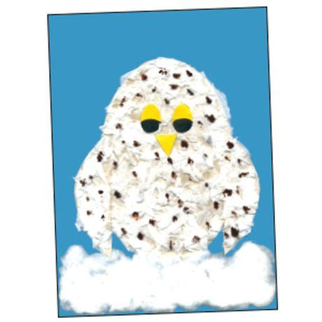 A Snowy Owl Papercraft Resting On My Laptop By - snowy owl project classroom projects