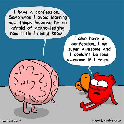 heart and brain an humor the awkward yeti