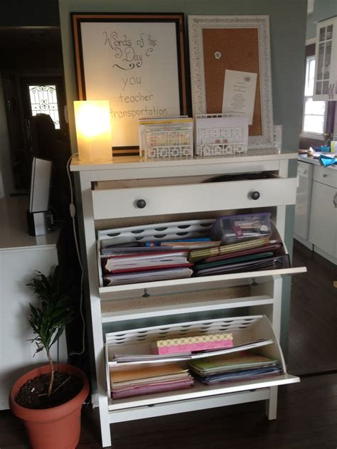 shoe storage from ikea organize pinterest my new craft station ikea hemnes shoe cabinet is perfect