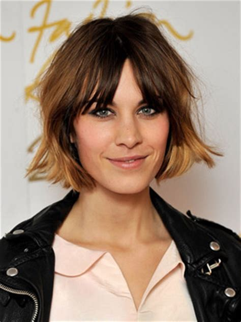 dip dye hairstyles with fringe new hair trend celebrity centre partings