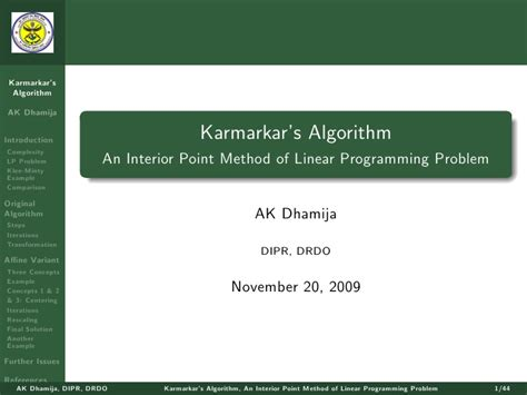 guide to competitive programming learning and improving algorithms through contests undergraduate topics in computer science books karmarkar s algorithm for linear programming problem
